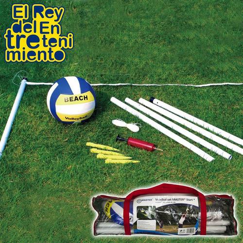 set de volleyball + red + pelota + inflador volley - el rey