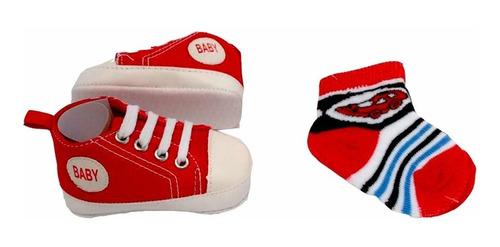 set de zapatos + medias para bebé varón bazar de oriente