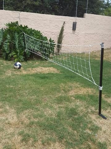 set futbol tenis. red + 2 soportes de hierro para clavar