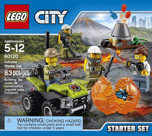 set introducción: volcán lego city