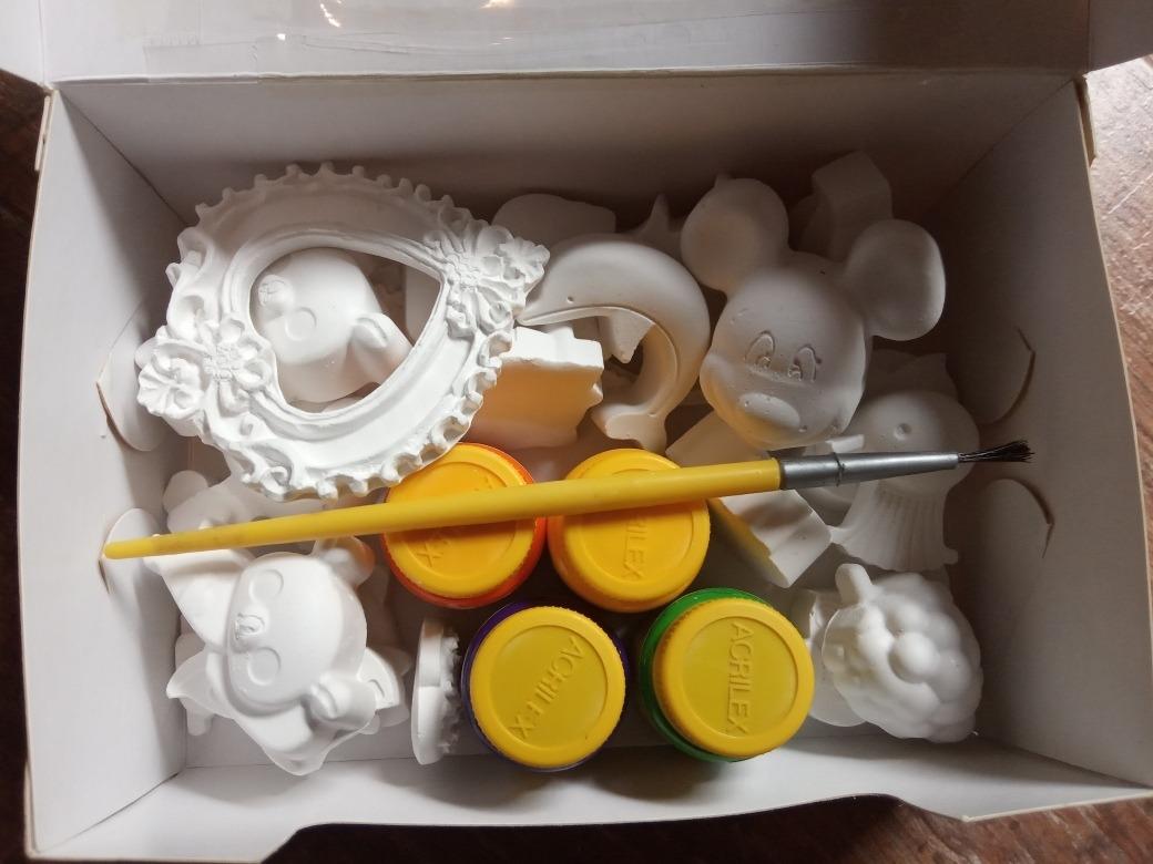 Kit De Yeso Para Bebes.Set Kit De Pintura Y Piezas De Yeso Para Ninos