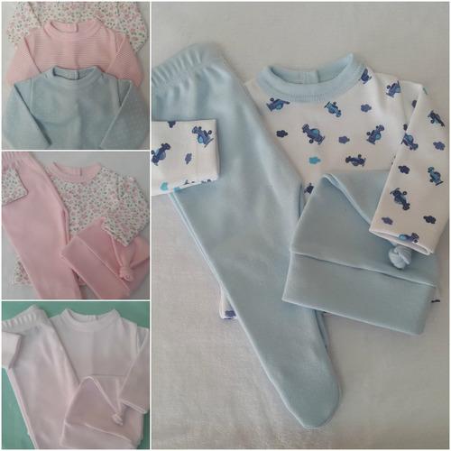 set para bebe prematuro en algodón pelele batita y gorrito