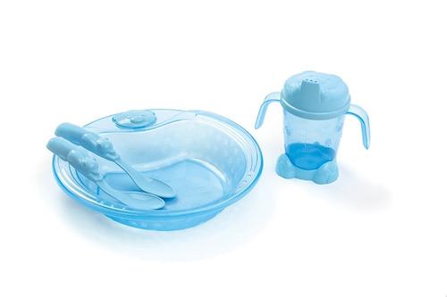 set plato vaso cubierto  bebés y niños
