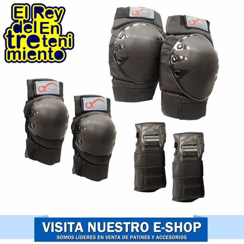 set protecciones 2 rodillera +2 codera +2 muñequera - el rey