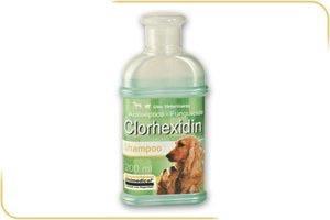 shampoo clorhexidin para caninos y felinos 200 ml