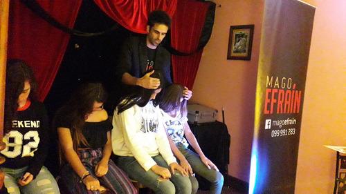 show magia + hipnosis. mago efrain pre adolescentes adultos