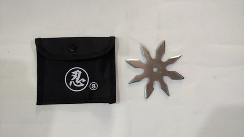 shuriken estrella ninja 8 puntas con estuche
