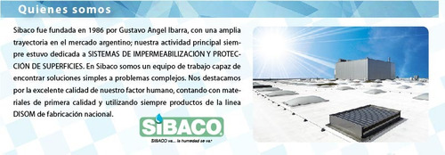 sibaco impermeabilización filtración azoteas terrazas techos