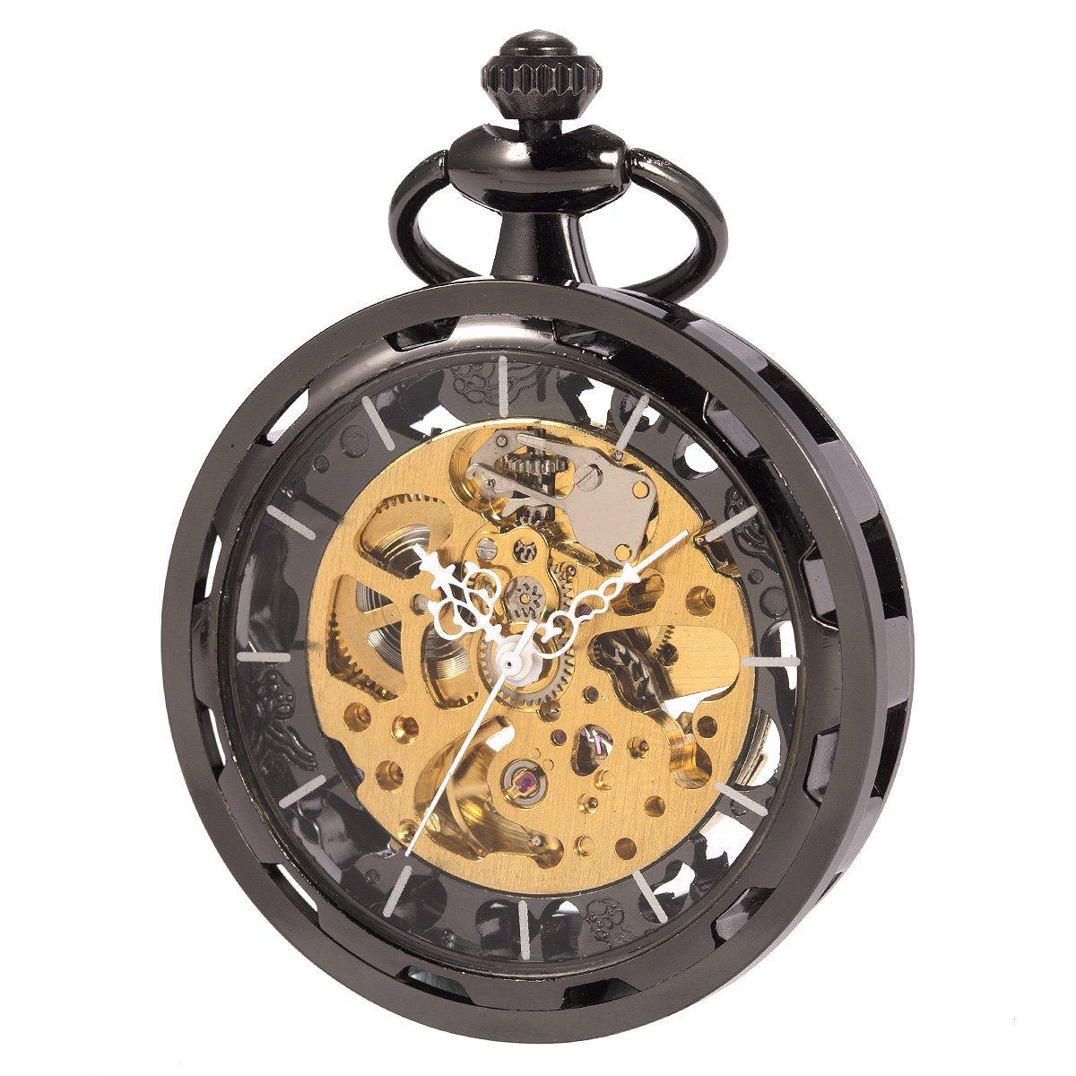 E Abierta Cara De Reloj Antiguo Mecánico Sibosun Bolsillo WrodCBxe