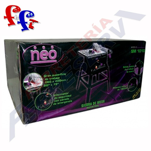 sierra circular de mesa disco 10 pulg. 1800w 75mm neo sm1010