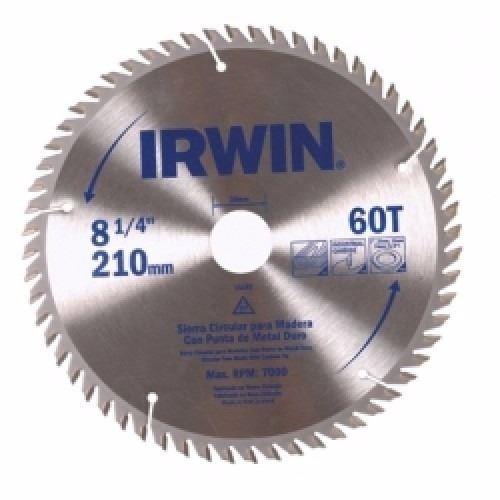 sierra circular para aluminio 8.1/4 pulgadas 60 diente irwin