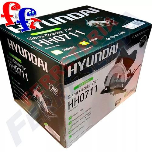 sierra cortadora circular 1200w hyundai 7¼  hobbie + lentes