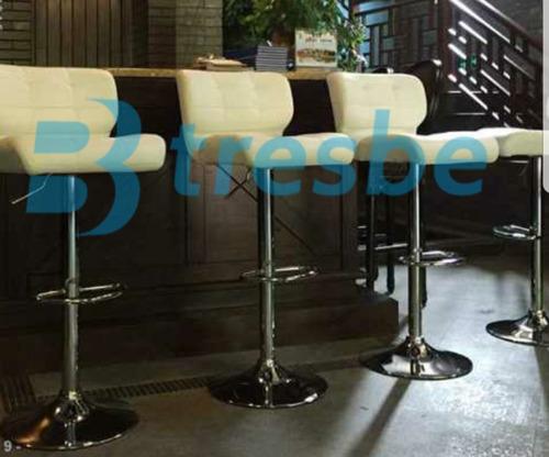 silla cajero alta super comoda barra regulable rojo