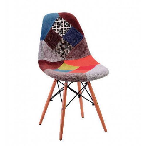 silla comedor eames tapizada patchwork estampada 160403