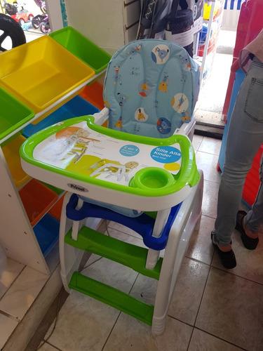 silla de comer escritorio para niños kinder rosa y celeste