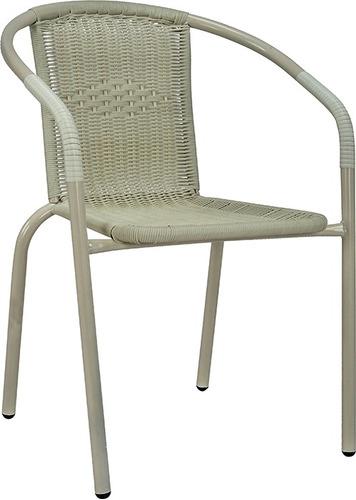 silla de jardín rattan exteriores divino