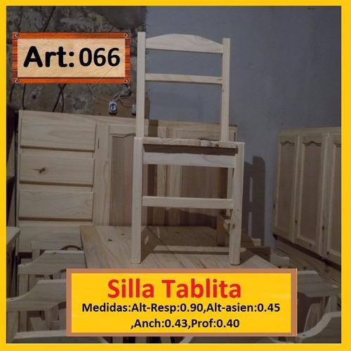 silla de madera de pino macizo bruno