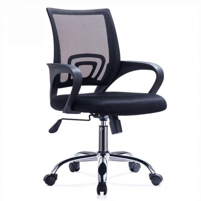 Silla De Oficina Diseño Ezri Mesh Color Negro Con Posabrazos - U$S ...