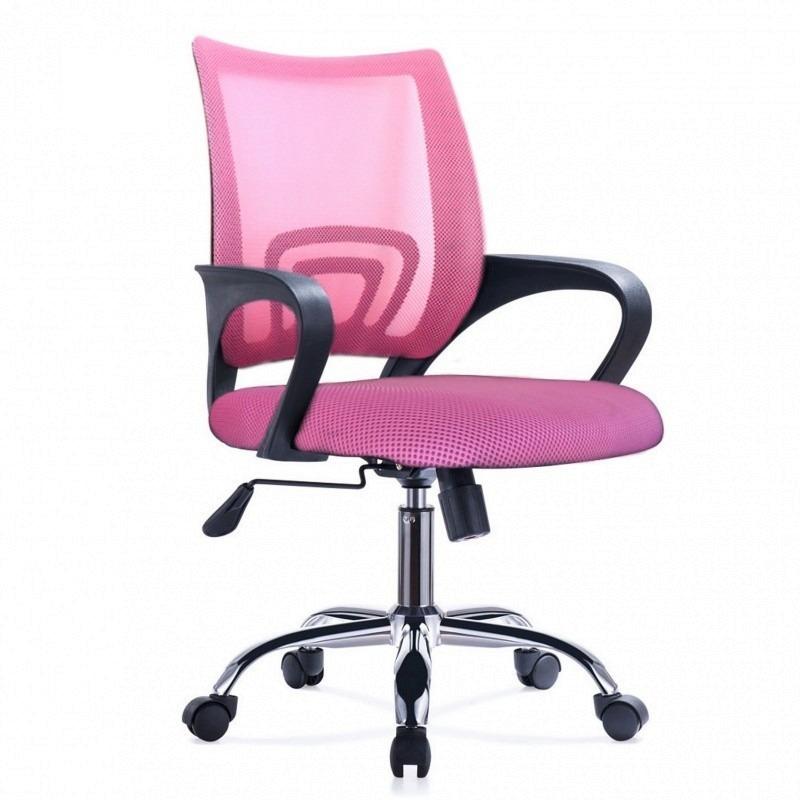Silla De Oficina Diseño Ezri Mesh Color Rosado Posabrazos - U$S 47 ...