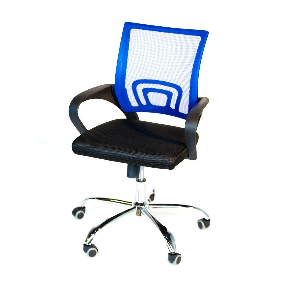Oficina 5 Azul Metalicas De Silla Patas Ejecutiva Apoyabrazo ZuwPOXiTk