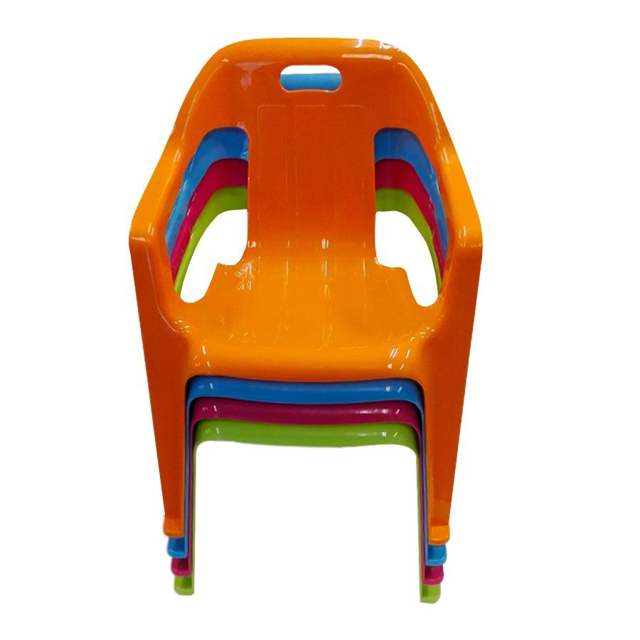 Silla De Plastico Para Ninos Con Posa Brazos Toy Feliz 550 00