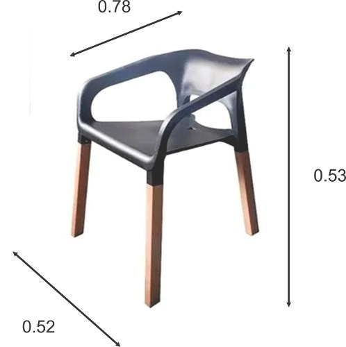 silla eames geminis patas de madera asiento blanco carina