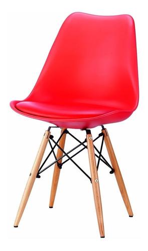 silla eames sillas comedor roja asiento acolchonado lg
