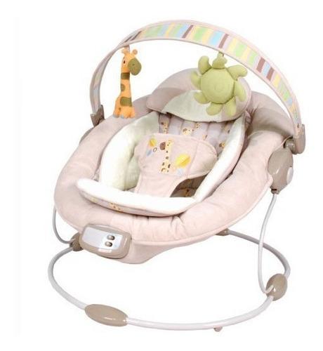 silla mecedora con musica y vibracion color pastel bounce ub