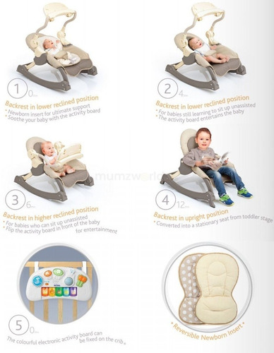 silla mecedora musicozzi tm magic rocking chair - infanti