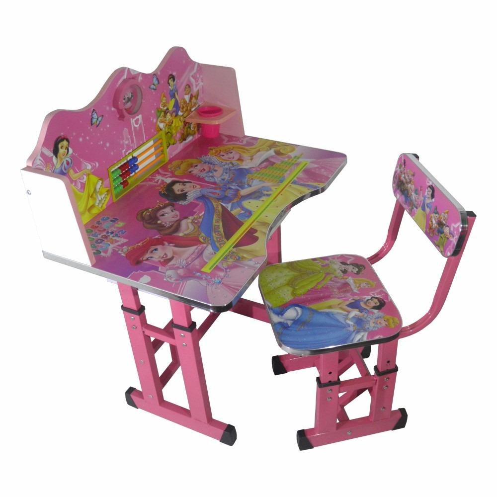 Silla mesa juego de escritorio para ni as de princesas - Sillas infantiles de escritorio ...