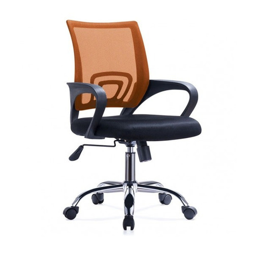 silla messh de oficina con posabrazos naranja - lcp