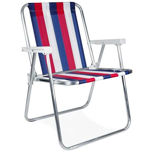 silla mor aluminio alta plegable de playa jardín disershop