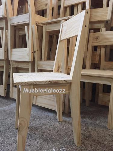 silla pino retro vintage maciza muy reforzada