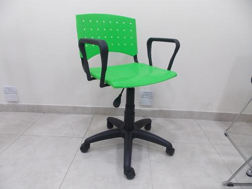 silla plastica oficina giratoria