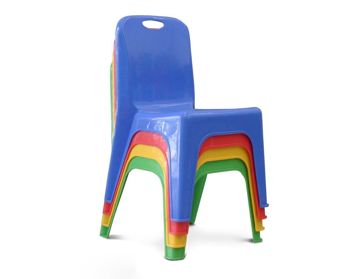 Silla Plastica Para Ninos Varios Colores 154 00 En Mercado Libre
