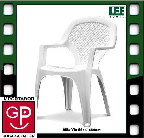 silla plástica vie 55x41x80cm g p