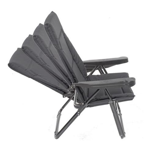 silla plegable reposera mor alfa 4 posiciones en color azul
