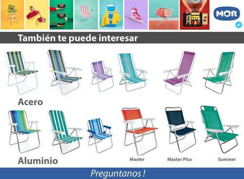 silla plegable reposera mor alfa 4 posiciones en color negro