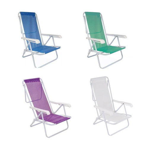 silla reposera plegable mor 8 posiciones resistente
