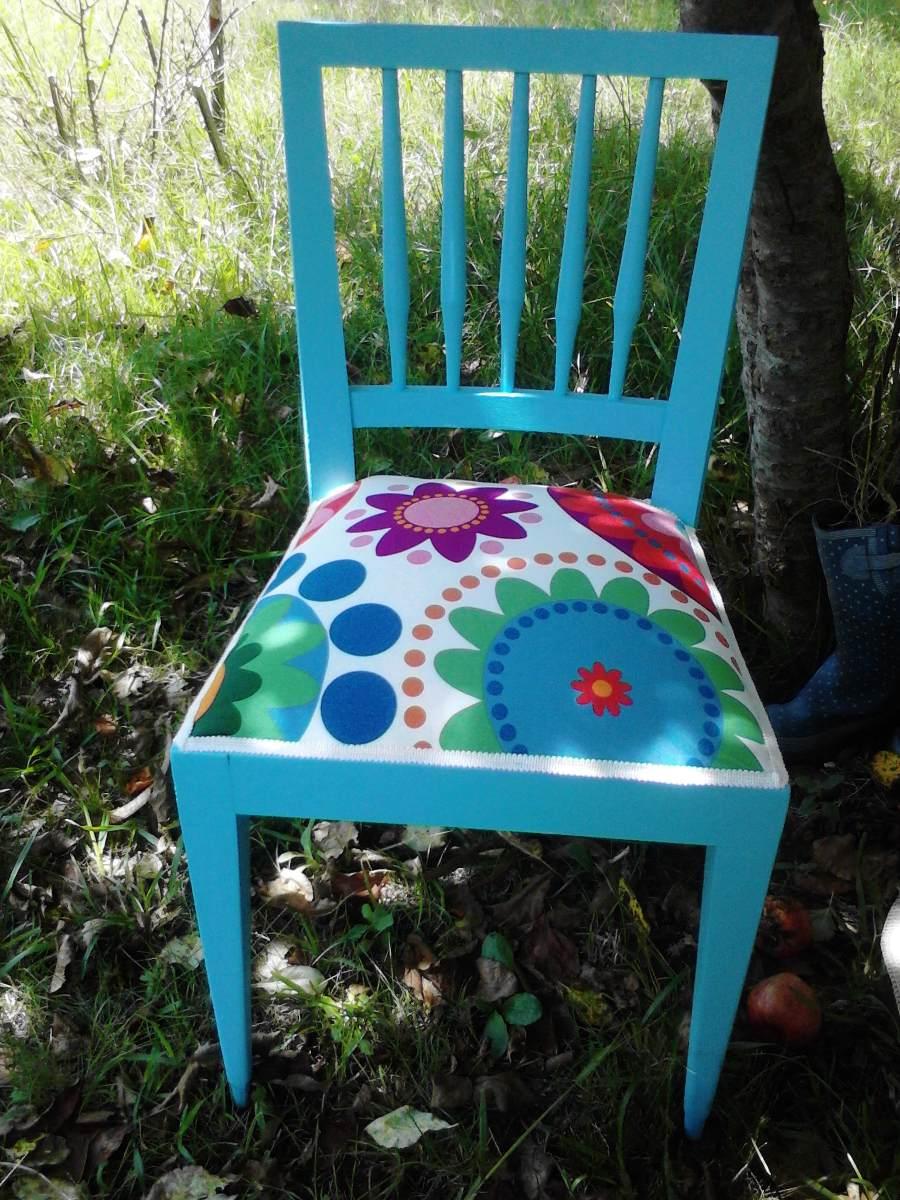 Silla restauradas con telas de tapicer a importadas ikea en mercado libre - Sillas con reposabrazos ikea ...