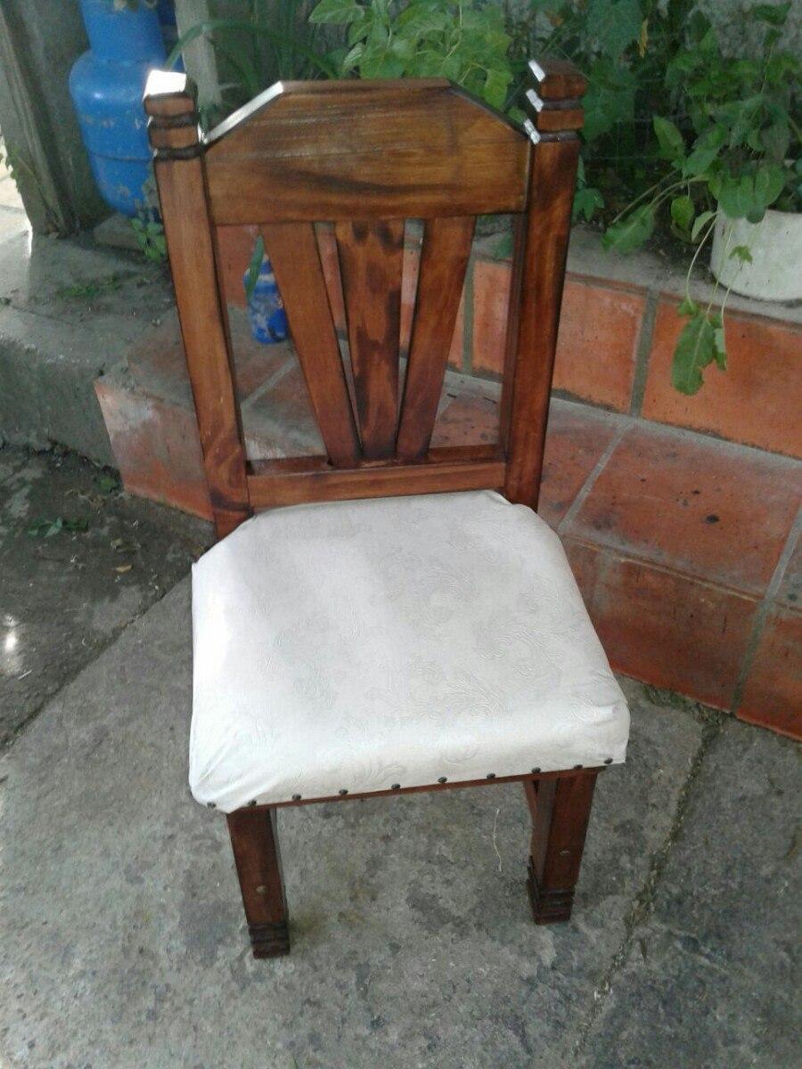 Silla Rustica Tapizada, De Madera Para Comedor - $ 3.500,00 en ...