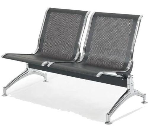 silla tandem 2 cuerpos asientos en metal punion