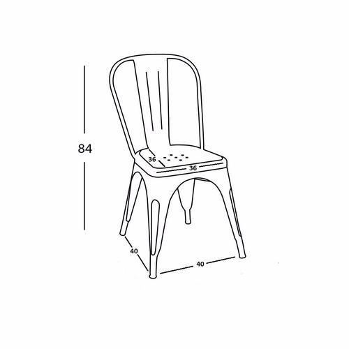 silla tolix blanca - en caja de 4 unidades