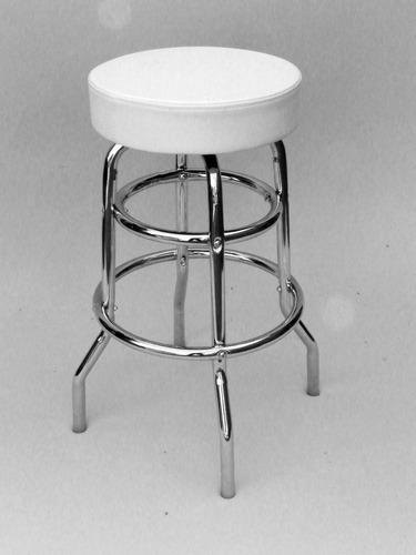 silla/banqueta cromada gas giratoria  laboratorios etc.