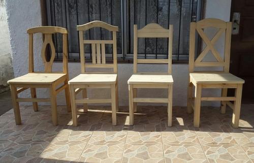 Sillas De Comedor Madera Varios Modelos - $ 950,00 en Mercado Libre