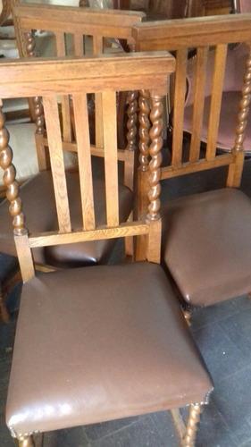 sillas de roble antiguas