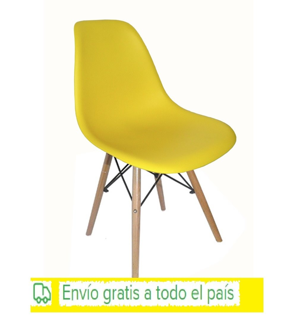Sillas Eames Color Amarillo Para Adultos Envio Gratis - $ 949,00 en ...