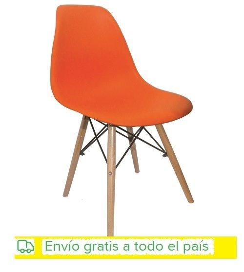 Sillas Eames Color Naranja Para Adultos Envio Gratis - $ 949,00 en ...