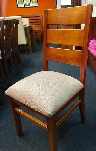 sillas en eucaliptos tapizadas  juego de comedor