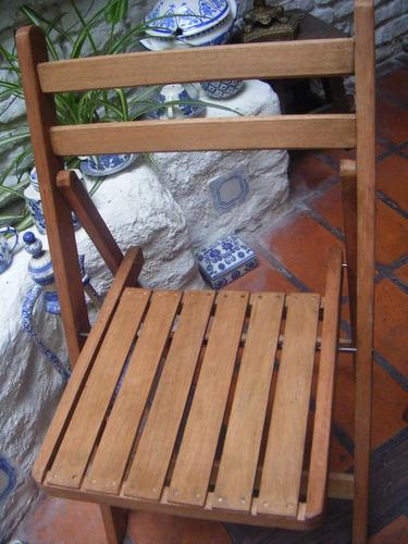 sillas plegables de madera con protector